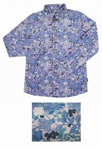 BLOUSE Navy Flower